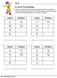 math input output tables worksheets the 9 best images about 1st