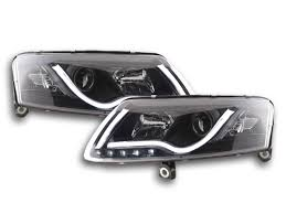 audi a6 2004 2008 real light bar drl daylight running lights black
