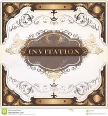 Invitation Card Design Free Download Elegant Invitation Vector Card For Design Royalty Free Stock