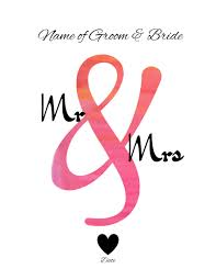 wedding wishes logo free mr and mrs wall customize online print at home