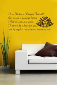 756 best wall decals images on pinterest sticker vinyl wall wall decals quotes it is better to conquer yourself buddha quote vinyl sticker wall decor murals