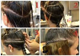sewn in hair extensions how to put in weft hair extensions