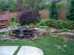 Pretty Backyards Landscaping With Rocks Present Impressing Landscape Designoursign
