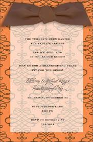 awesome thanksgiving feast invitation ecard with abstract floral