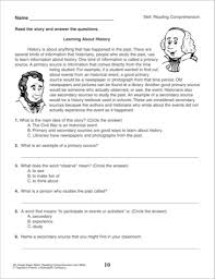 reading comprehension questions 4th grade fourth grade reading comprehension worksheets worksheets