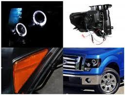 2012 ford f150 projector headlights ford f150 2009 2014 black halo projector headlights with led