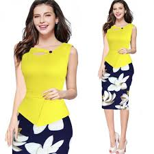 casual wear for women 2017 fashion women vintage flower casual wear to work