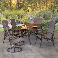 Hampton Bay Fall River 7 Piece Patio Dining Set - patio furniture dining sets bar height vichy springs 7 piece