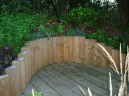 Ideas For Retaining Walls Garden by Image Result For Stacked Logs As Retaining Wall Landscaping