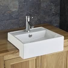 semi recessed bathroom sinks gandra square inset countertop bathroom sink set bathroom sink