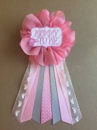 pink elephant baby shower mommy to be flower ribbon pin corsage