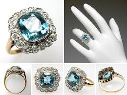 Birthstone Wedding Rings by Antique Aquamarine Wedding Rings The Wedding Specialiststhe