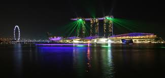 Bay Bridge Light Show Singapore On Which I Eat All The Foods And Sweat All The Sweats