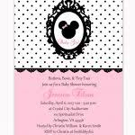 minnie mouse baby shower invitations free templates invitations