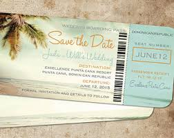 affordable save the dates travel boarding pass destination wedding save the date navy