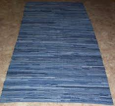 Denim Rag Rug Multi Color Placemats Woven Rag Rug Style Made By Backporchcountry