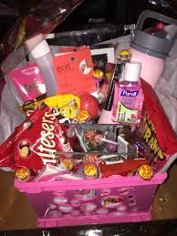 best food gift baskets made a gift basket for my best friend s birthday with