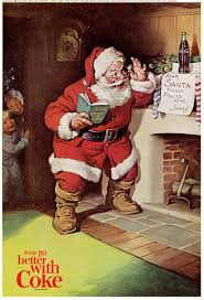 santa illustration for coca cola haddon sundblom 1963 holiday