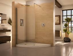 bathroom glass shower door with walk in shower kits and rain