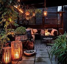 Hanging Patio Lights by Inviting Roof Terrace Beautifully Lit Popular Pinterest