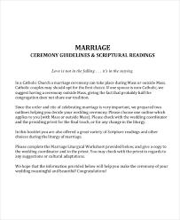 catholic wedding readings wedding outline template 6 free word pdf document downloads