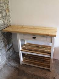 pen y fan butchers block kitchen island breakfast bar powell