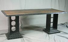 Reclaimed Wood Executive Desk Industrial Desk Ebay