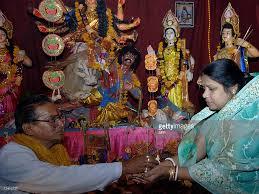 hindu l indian bangladeshi nepalese celebrate hindu durga puja festival
