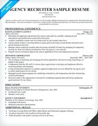 recruiter resume exles recruiter resume exle sle resume recruiter