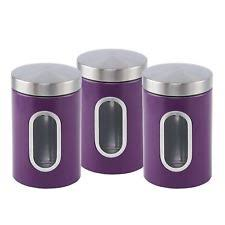 purple kitchen canisters stainless steel contemporary kitchen canisters jars ebay