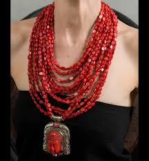 coral necklace red images Red coral haute collier jpg