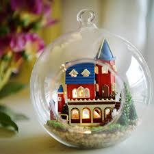 cuteroom diy glass ball dollhouse handmade miniature toys birthday