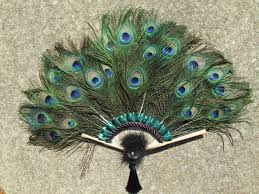 peacock feather fan medium peacock feather fan 25 by 18 inches made to order