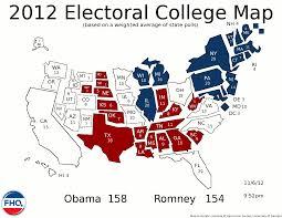 Romney Obama Map Frontloading Hq November 2012