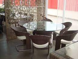 Massive Round Outdoor Dining Set Rattan Wicker Outdoor Furniture - Round outdoor dining table australia