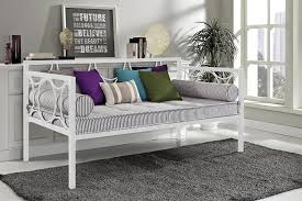 Twin Size Day Bed by Amazon Com Dhp Rebecca Metal Daybed Twin Size White Kitchen