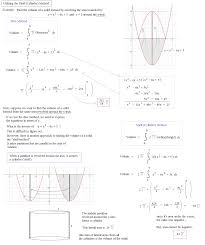 math plane volumes of solids shell method