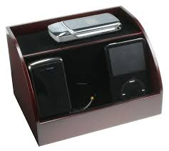 clean up your desk charging station desk organizer rosewood