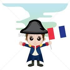 Holding The Flag Boy Holding France Flag Vector Image 1356095 Stockunlimited