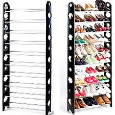 30 pair shoe cabinet 10 tier space saving storage organizer 30 pair shoe tower rack free