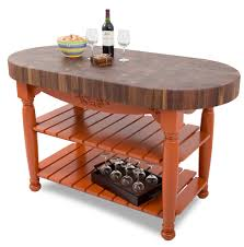 Oval Kitchen Islands Furniture Best Oval Boos Butcher Block For Rustic Upper Table