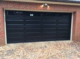 Overhead Door Burlington 15x7 Model 2250 Raised Panel Steel Garage Door Black With