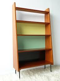 ladderax retro vintage teak mid century wall unit shelves office