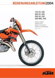 ktm 250 exc 2004 user manual 68 pages also for 300 exc 2004
