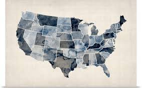 map of us states poster poster print wall entitled map of united states of america