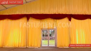 Curtain Drapes For Weddings How To Install Lining And Curtain Drape For Marquee Tent Wedding