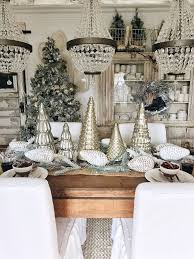 rustic glam cottage christmas dining room cottage christmas