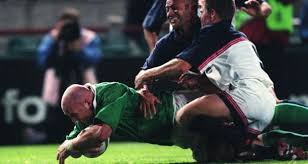 rwc 35 keith wood scores four tries against usa