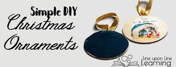 simple diy ornaments with free nativity printable template