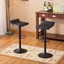 Bar Stool Sets Of 2 Amazon Com Roundhill Furniture Swivel Black Bonded Leather